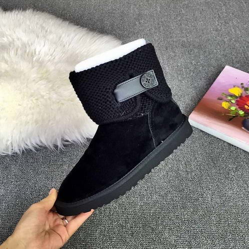 UGG 1012534 Leather & Wool Black