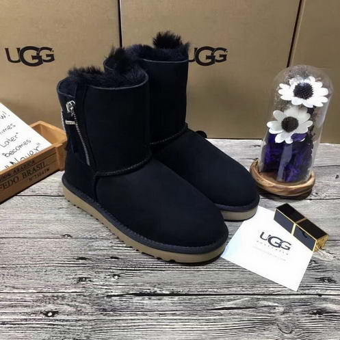 UGG 1011238 Double Side zipper Black