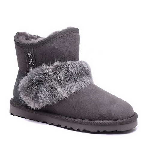 2015 new arrival UGG 5855 rabbit hair grey