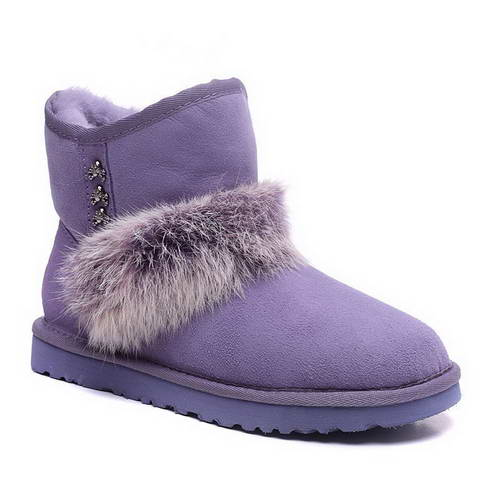 2015 new arrival UGG 5855 rabbit hair purple